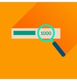Flat icon with long shadow find money vector image