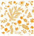 Floral ornament sketch seamless background vector image vector image