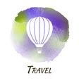 Air Balloon Travel Watercolor Concept vector image