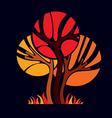 Art fairy of tree stylized eco symbol Insight vec vector image