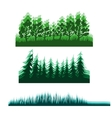 flat forest background vector image