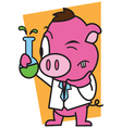 Pigs in the laboratory vector image