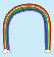 rainbow doodle vector image
