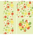 Eggs and salad set of seamless pattern and borders vector image vector image
