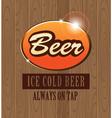 beer light vector image vector image