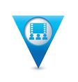 cinema icon map pointer blue vector image vector image