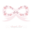 flower bow background vector image vector image