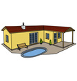 Small low house vector image