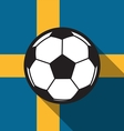 football icon with Sweden flag vector image