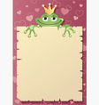 frog prince letter vector image vector image