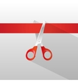 Tape and scissors with long shadow vector image