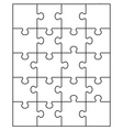 small white puzzle vector image