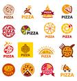 big set of logos pizza vector image