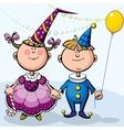 Children in fancy dresses vector image