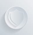circle icon with a shadow protection shield vector image