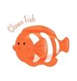Clown fish Anemone Child fun pattern icon vector image