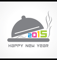 creative New Year 2015 design with restaurant vector image