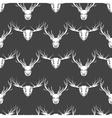 Deer and elk heads seamless pattern vector image