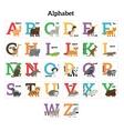 English animals zoo alphabet vector image