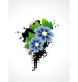 flower artistic design vector image