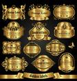 golden labels in vintage style vector image