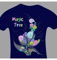 Magic tree - print for t-shirt vector image