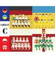 Players with flags euro 2016 set vector image