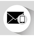 smartphone screen email social media vector image
