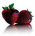 strawberries isolated on white background vector image