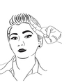 vintage pop art girl vector image