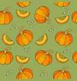 webseamless halloween background with pumpkins vector image