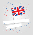 British flag over festive background vector image vector image