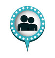 chat bubble with people inside vector image