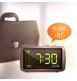 Digital alarm clock background vector image