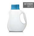 3d detergent bottle mock up blank plastic vector image