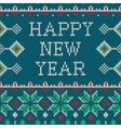 New Year ornament on the knitted texture vector image