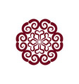 arabic ornament isolated oriental decorative vector image