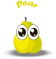 fresh pear and slice vector image