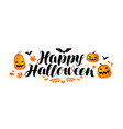 happy halloween banner handwritten lettering vector image