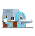 MRI scan and diagnostics Health care vector image