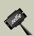 selfie stick portrait photograph with digital vector image