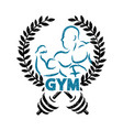 Sign for gym vector image