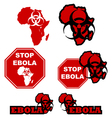 Stop Ebola vector image
