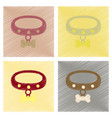 assembly flat shading style icons dog collar vector image