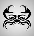 Crab Tribal vector image