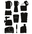 electrical appliances for the kitchen 03 vector image vector image