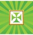 Maltese cross picture icon vector image