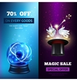 Magic Banners Vertical vector image