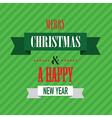 merry christmas green vector image