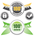 100 natural satisfaction vector image